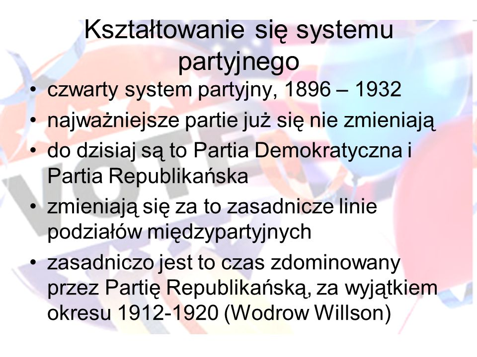 Kształtowanie się systemu partyjnego