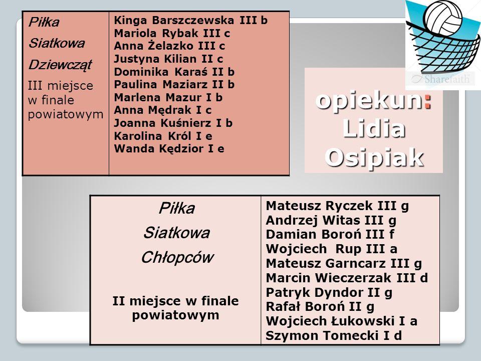 opiekun: Lidia Osipiak