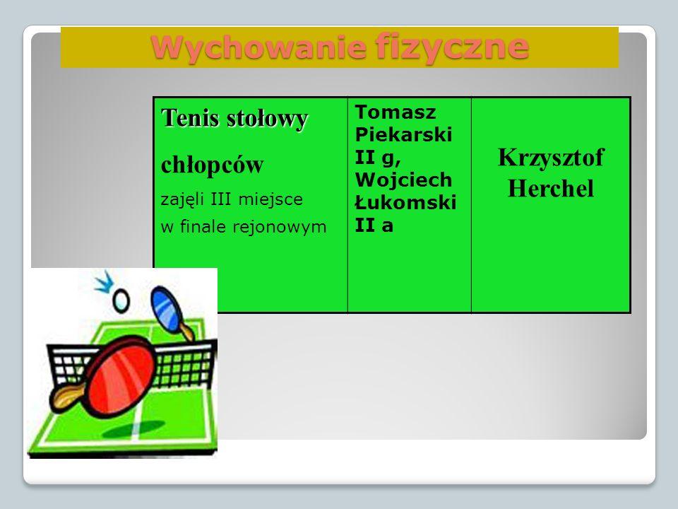 Wychowanie fizyczne Tenis stołowy chłopców Krzysztof Herchel