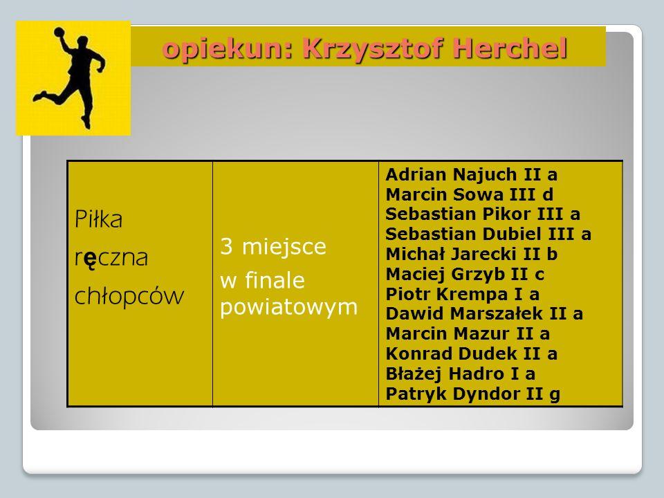 opiekun: Krzysztof Herchel