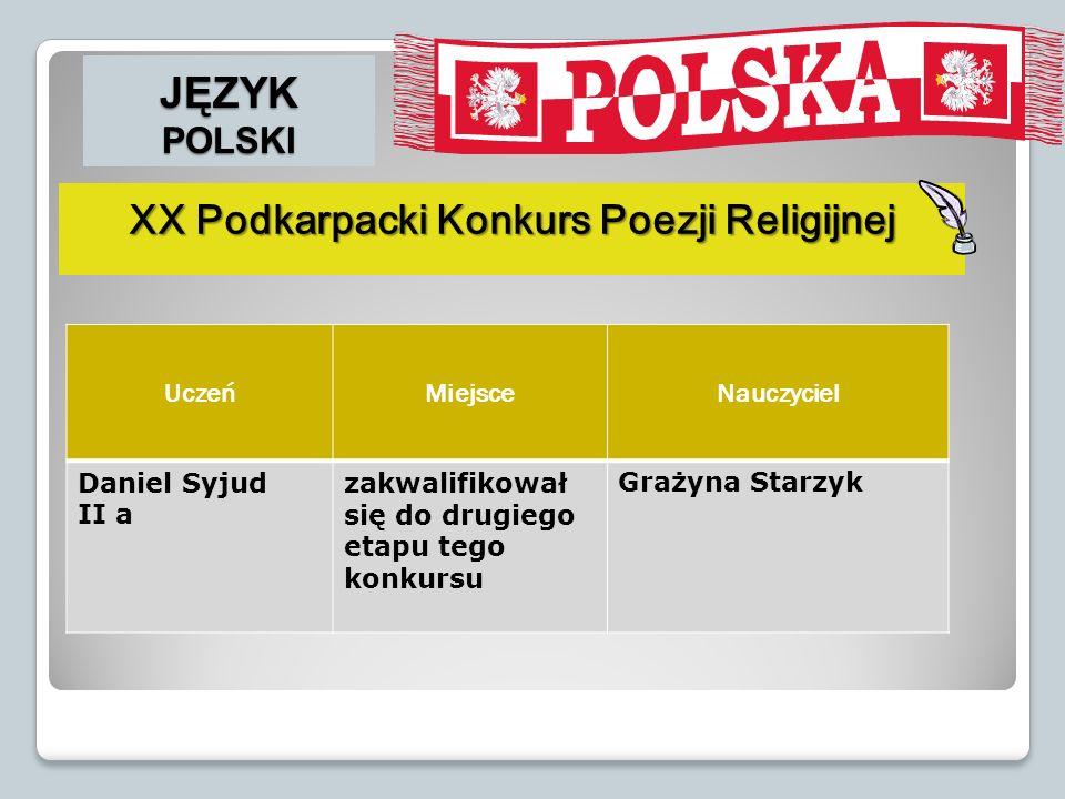XX Podkarpacki Konkurs Poezji Religijnej