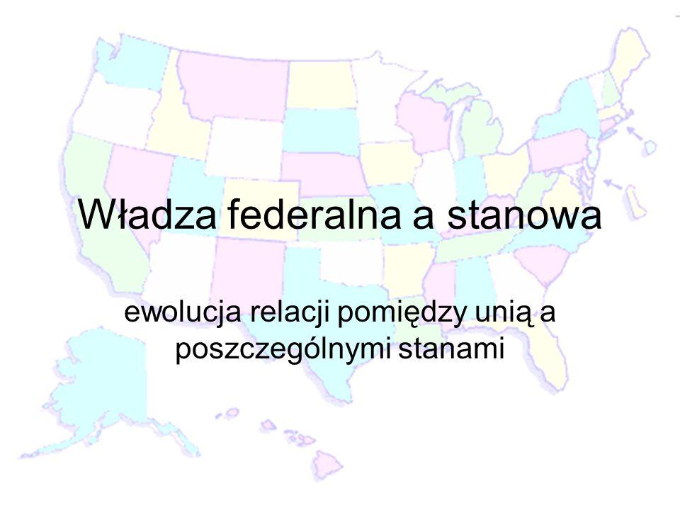 Władza federalna a stanowa