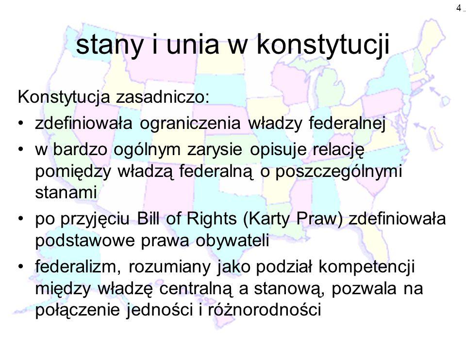 stany i unia w konstytucji