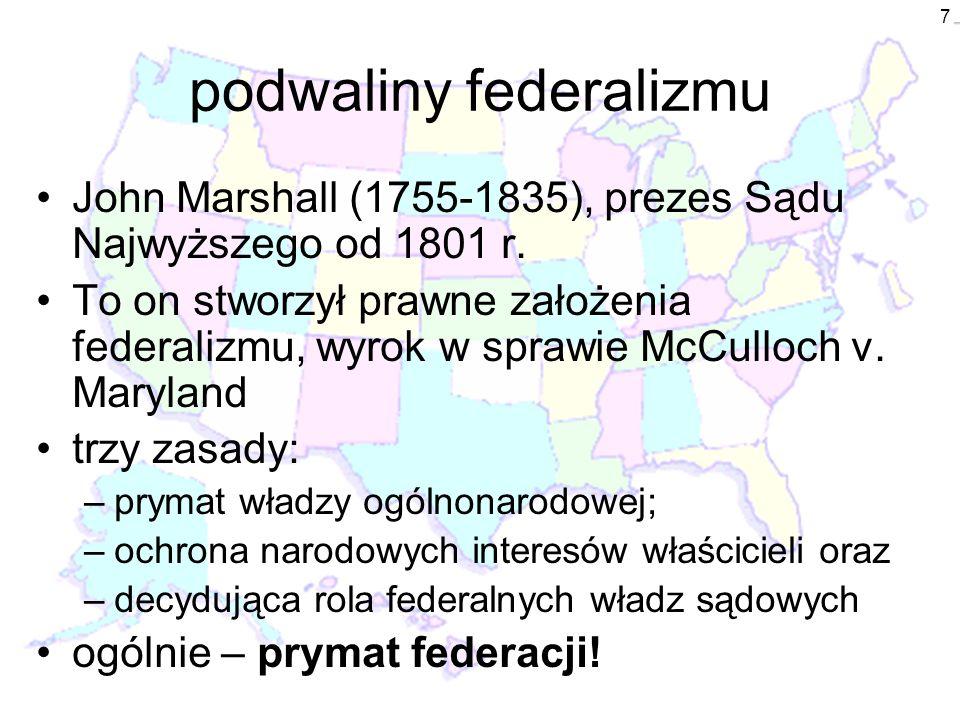 podwaliny federalizmu