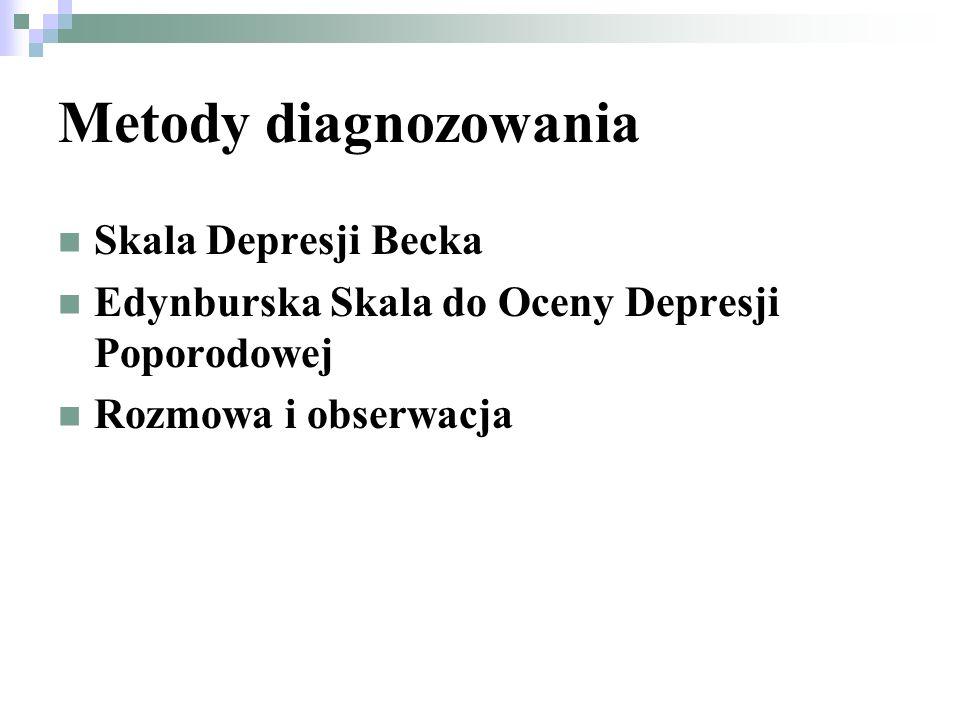 Metody diagnozowania Skala Depresji Becka