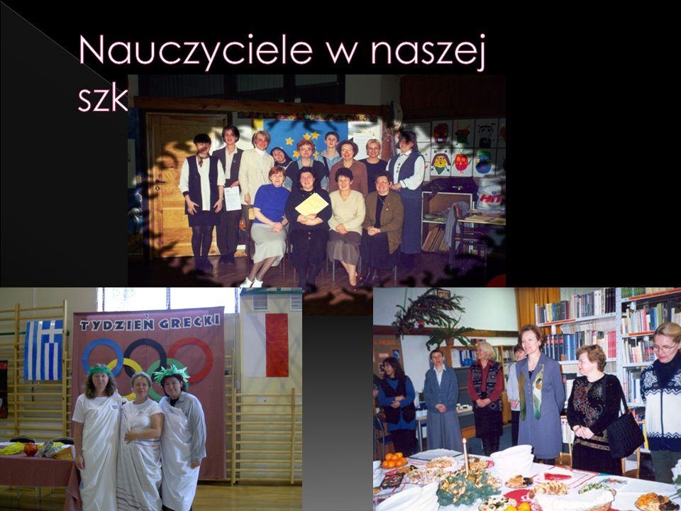 Nauczyciele w naszej szkole…
