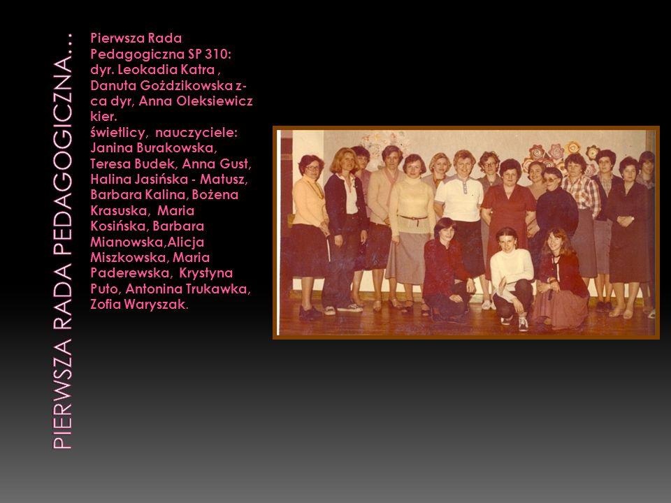 Pierwsza rada pedagogiczna…