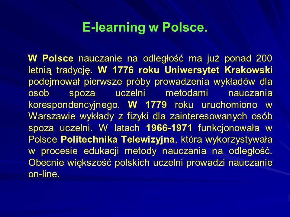 E-learning w Polsce.