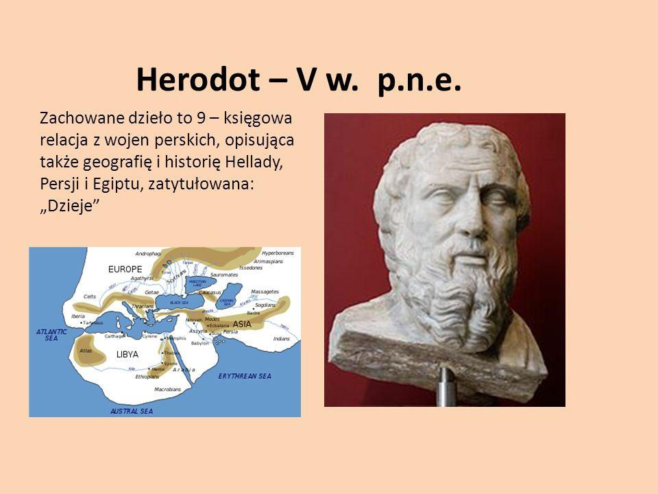 Herodot – V w. p.n.e.