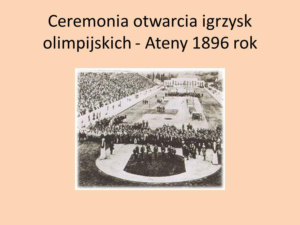 Ceremonia otwarcia igrzysk olimpijskich - Ateny 1896 rok