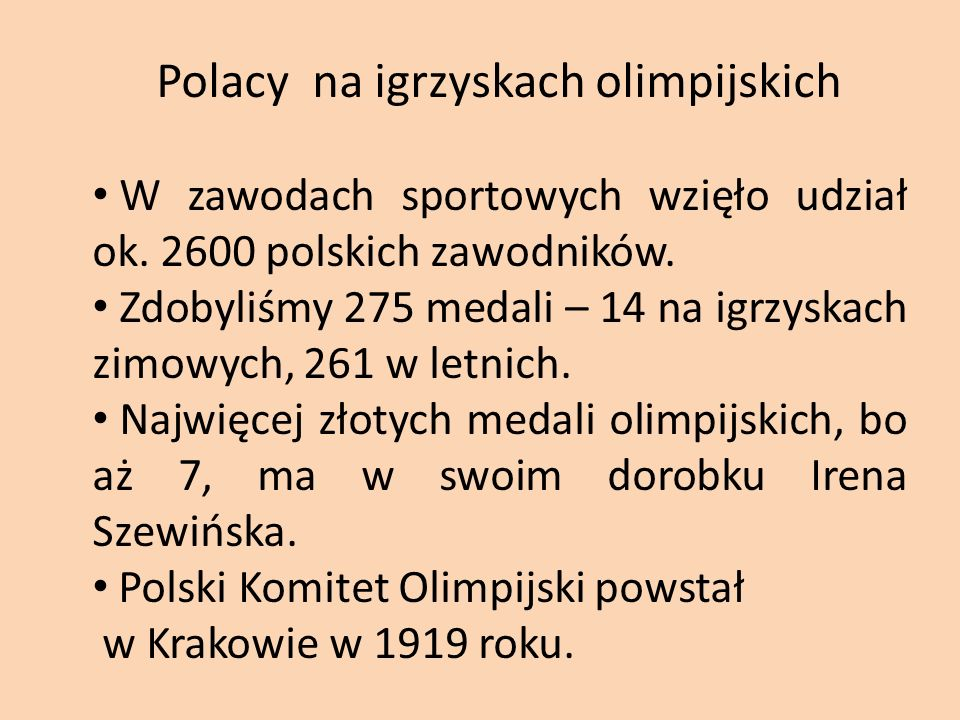 Polacy na igrzyskach olimpijskich