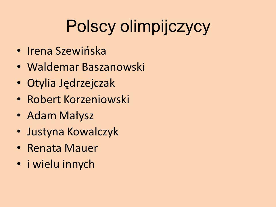 Polscy olimpijczycy Irena Szewińska Waldemar Baszanowski