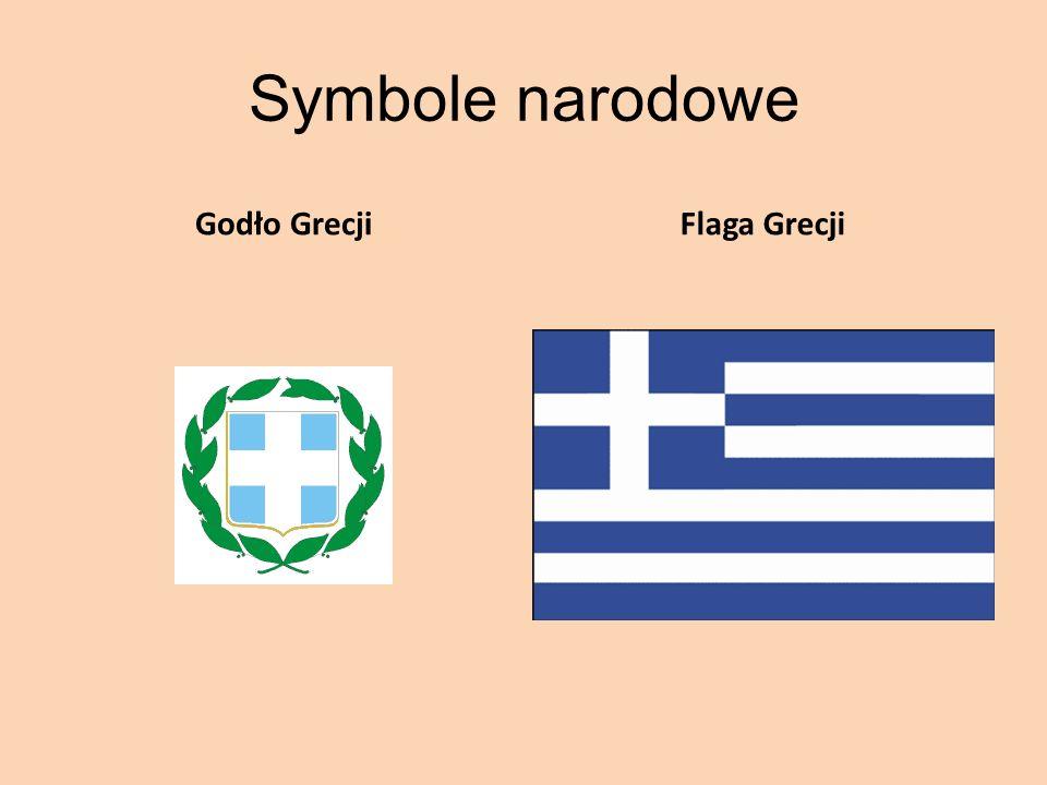 Symbole narodowe Godło Grecji Flaga Grecji