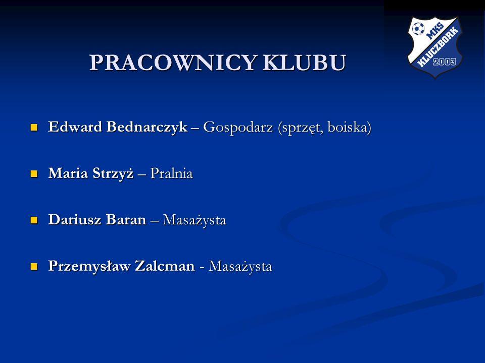 PRACOWNICY KLUBU Edward Bednarczyk – Gospodarz (sprzęt, boiska)