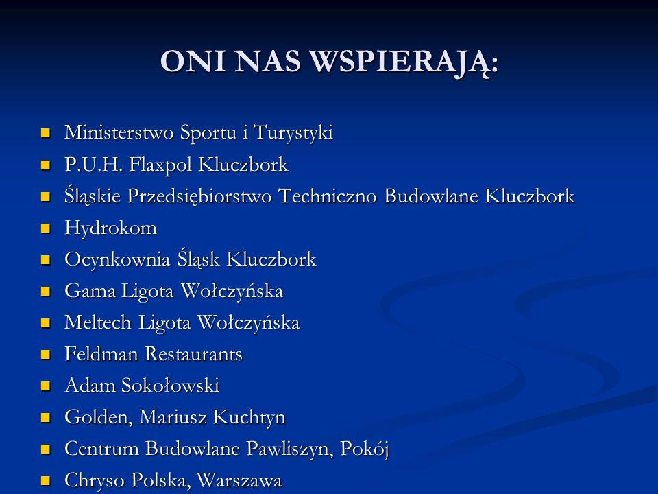 ONI NAS WSPIERAJĄ: Ministerstwo Sportu i Turystyki
