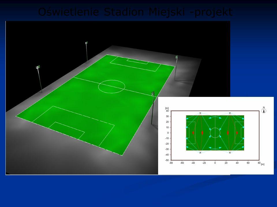 Oświetlenie Stadion Miejski -projekt