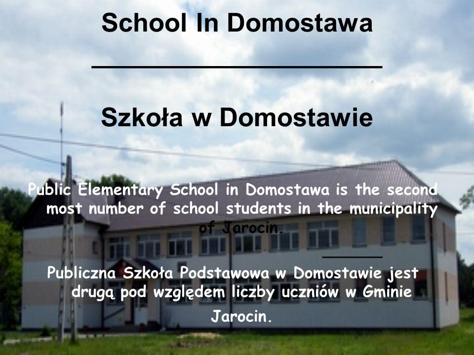 School In Domostawa ____________________ Szkoła w Domostawie