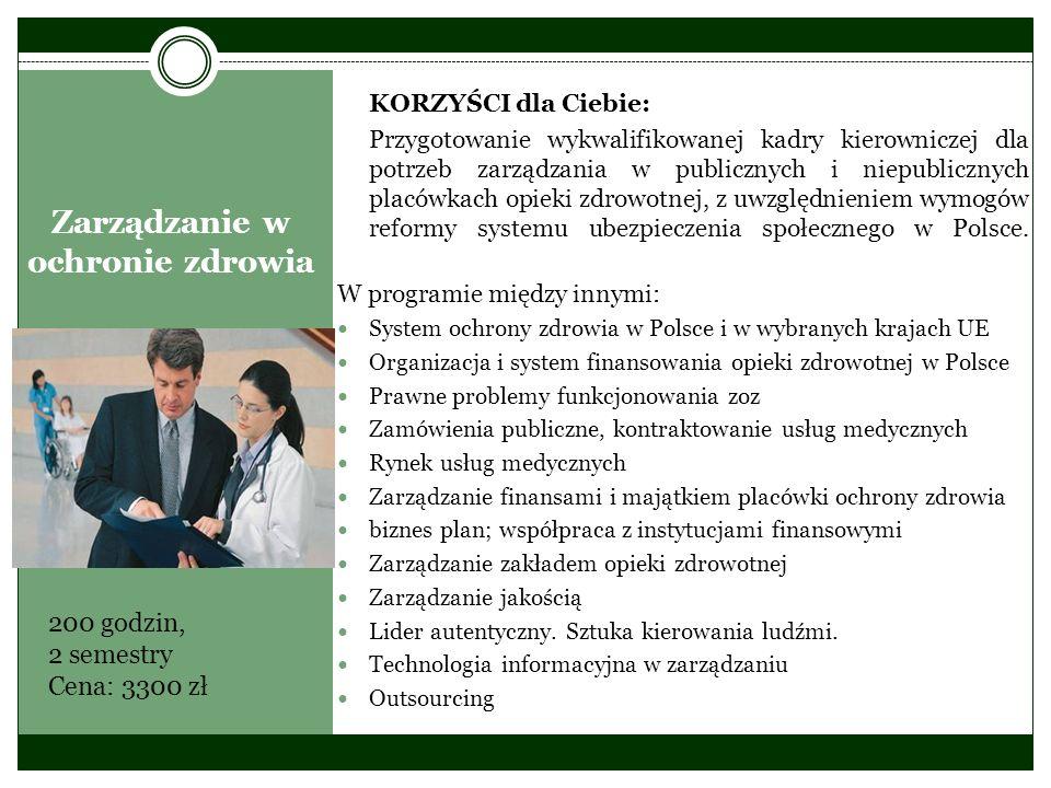 Zarządzanie w ochronie zdrowia
