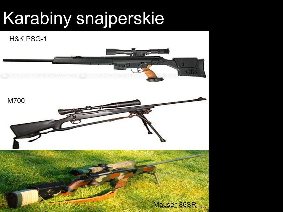 Karabiny snajperskie H&K PSG-1 M700 Mauser 86SR