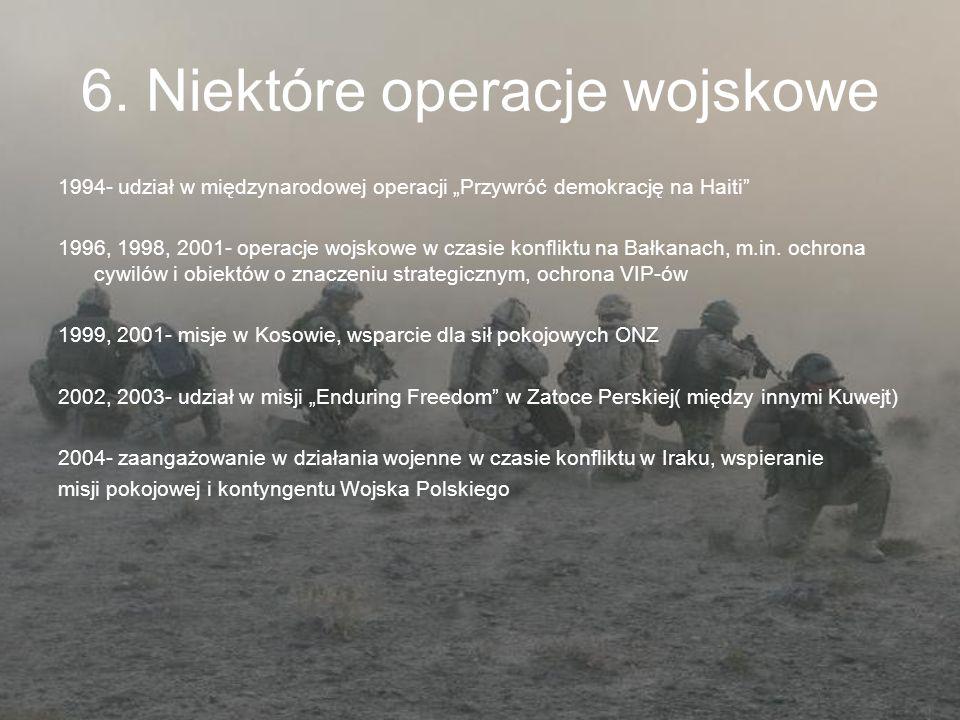 6. Niektóre operacje wojskowe