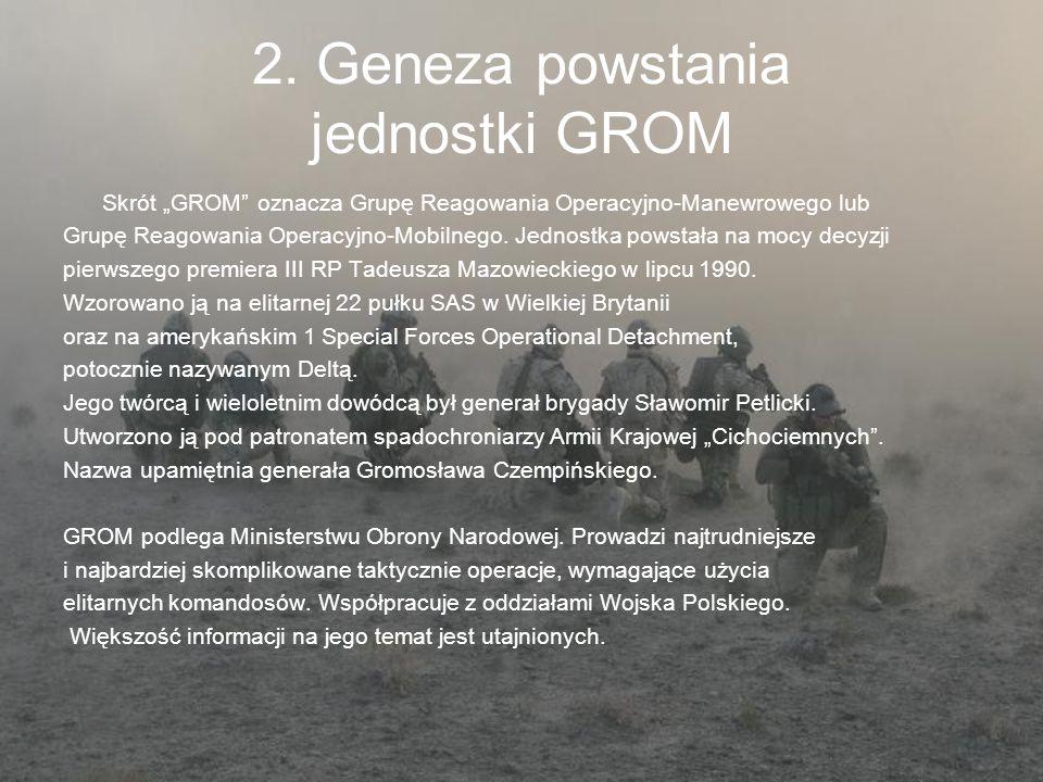 2. Geneza powstania jednostki GROM