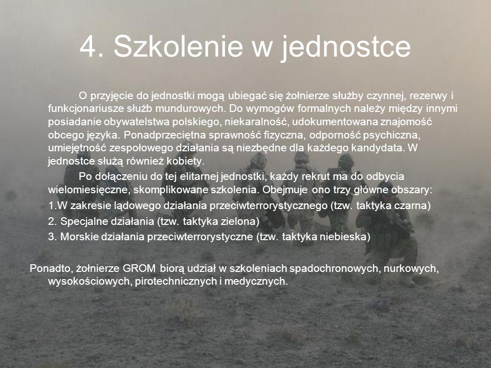 4. Szkolenie w jednostce