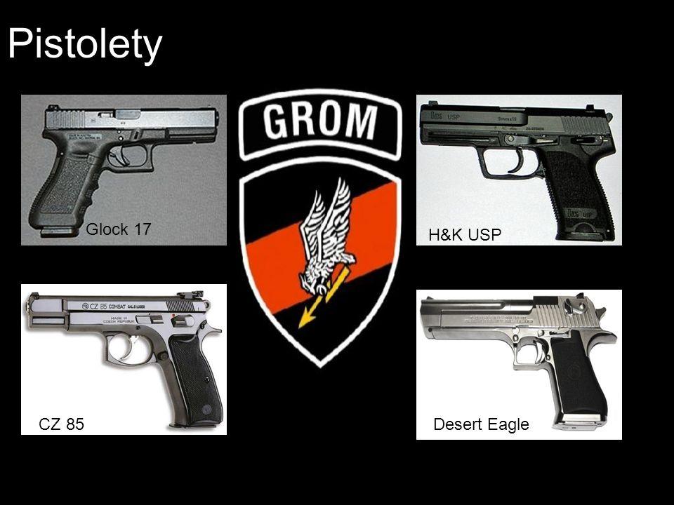 Pistolety Glock 17 H&K USP CZ 85 Desert Eagle