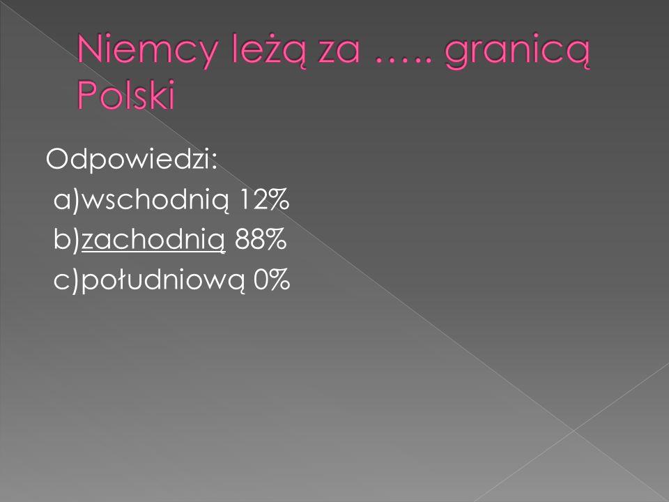 Niemcy leżą za ….. granicą Polski