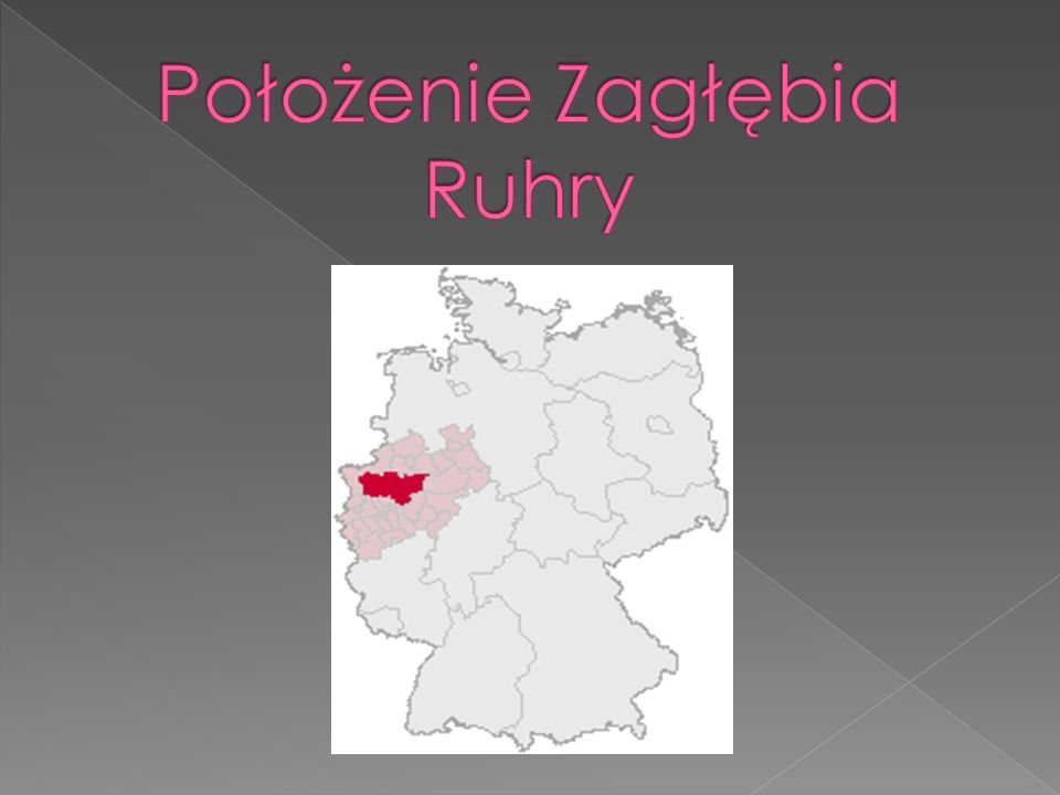 Położenie Zagłębia Ruhry