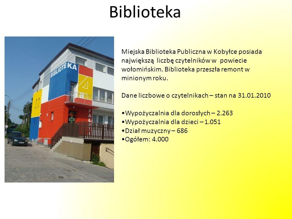 Biblioteka Miejska Biblioteka Publiczna w Kobyłce posiada