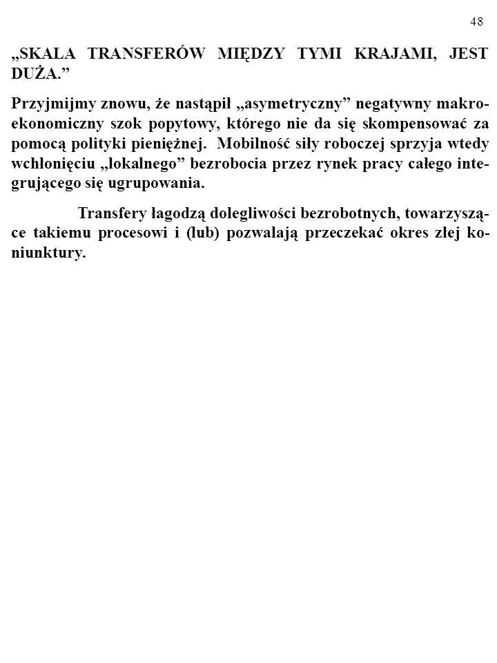 """""""SKALA TRANSFERÓW MIĘDZY TYMI KRAJAMI, JEST DUŻA."""