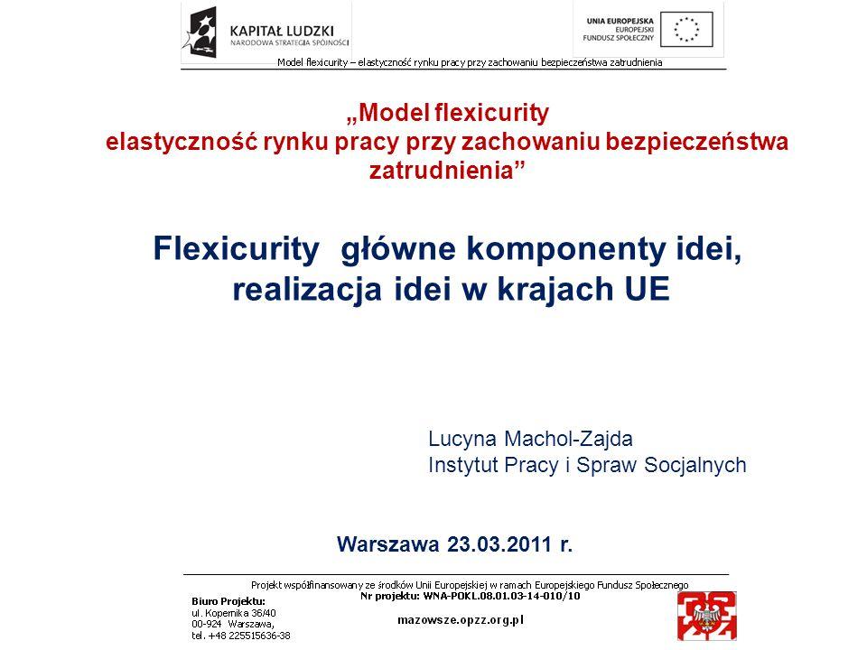 Flexicurity główne komponenty idei, realizacja idei w krajach UE