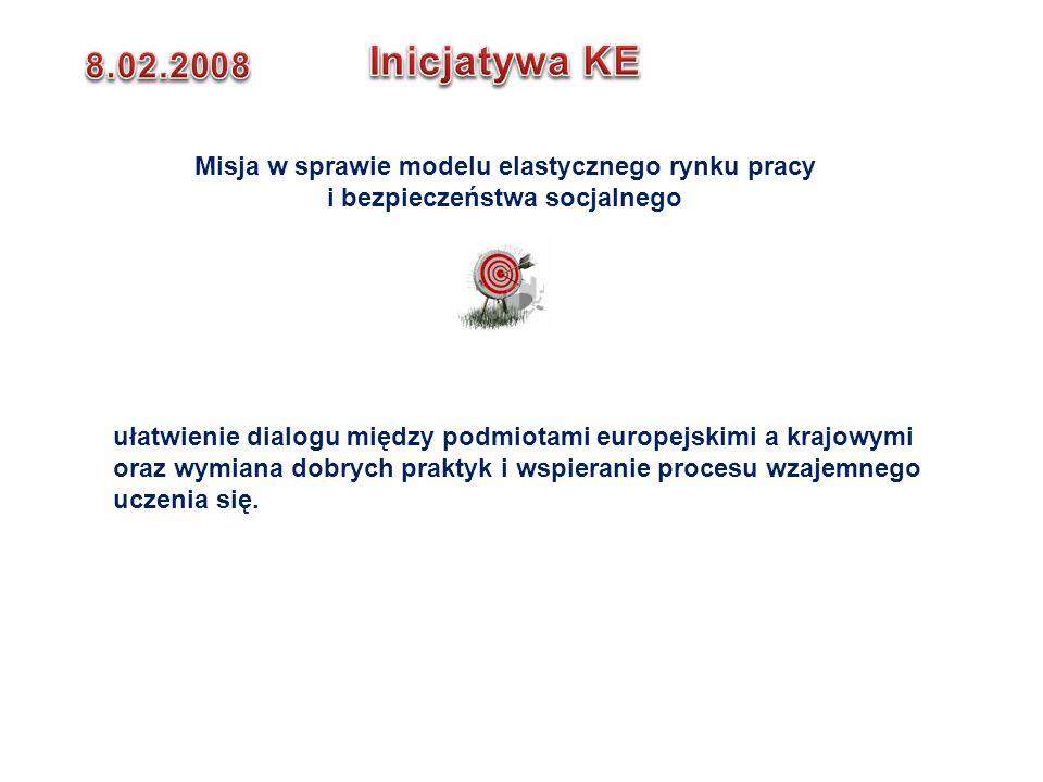 Inicjatywa KE 8.02.2008. Misja w sprawie modelu elastycznego rynku pracy i bezpieczeństwa socjalnego.