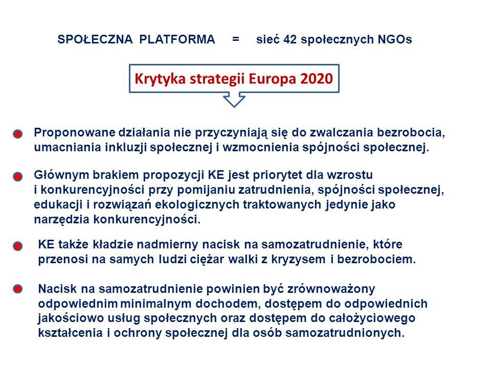 Krytyka strategii Europa 2020
