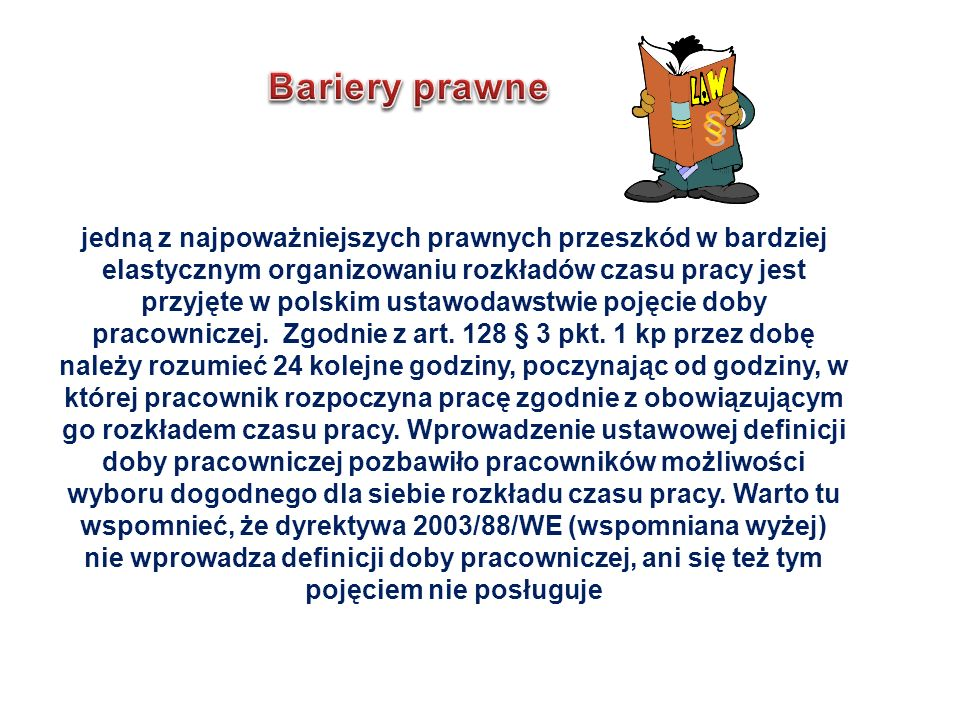 § Bariery prawne.