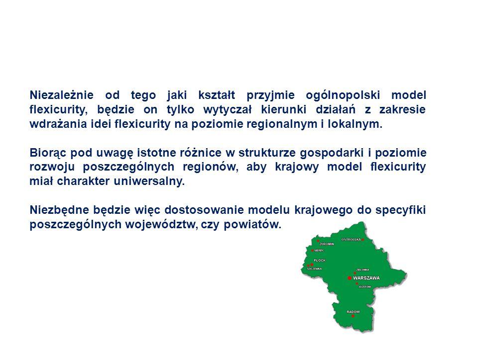 Niezależnie od tego jaki kształt przyjmie ogólnopolski model flexicurity, będzie on tylko wytyczał kierunki działań z zakresie wdrażania idei flexicurity na poziomie regionalnym i lokalnym.