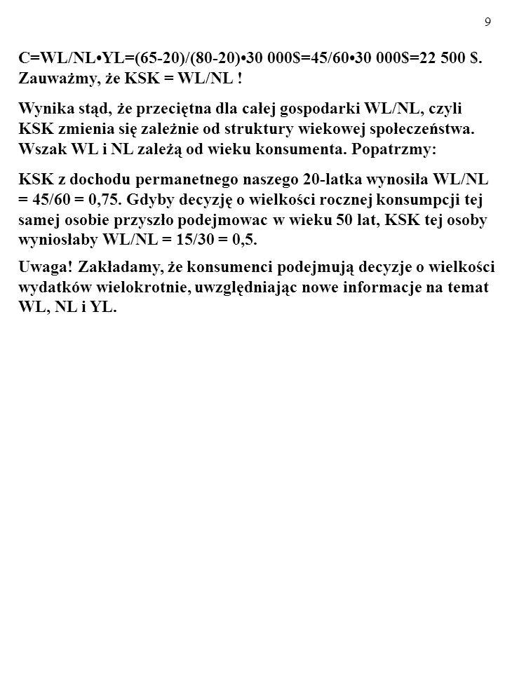 C=WL/NL•YL=(65-20)/(80-20)•30 000$=45/60•30 000$=22 500 $.