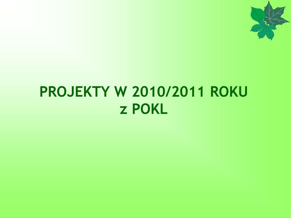 PROJEKTY W 2010/2011 ROKU z POKL
