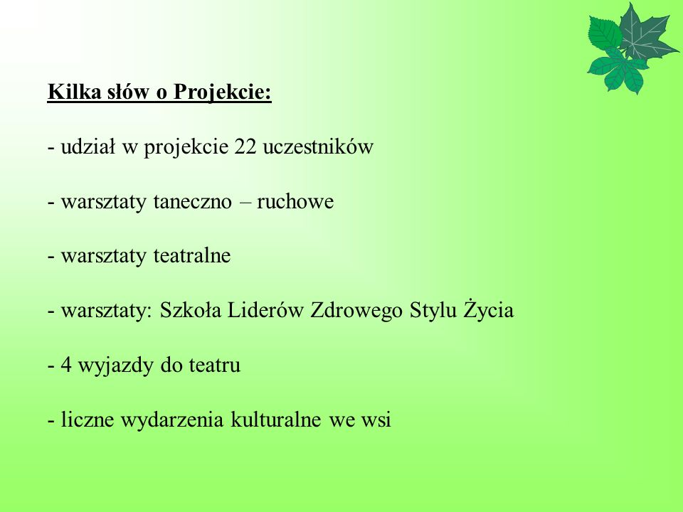 Kilka słów o Projekcie: