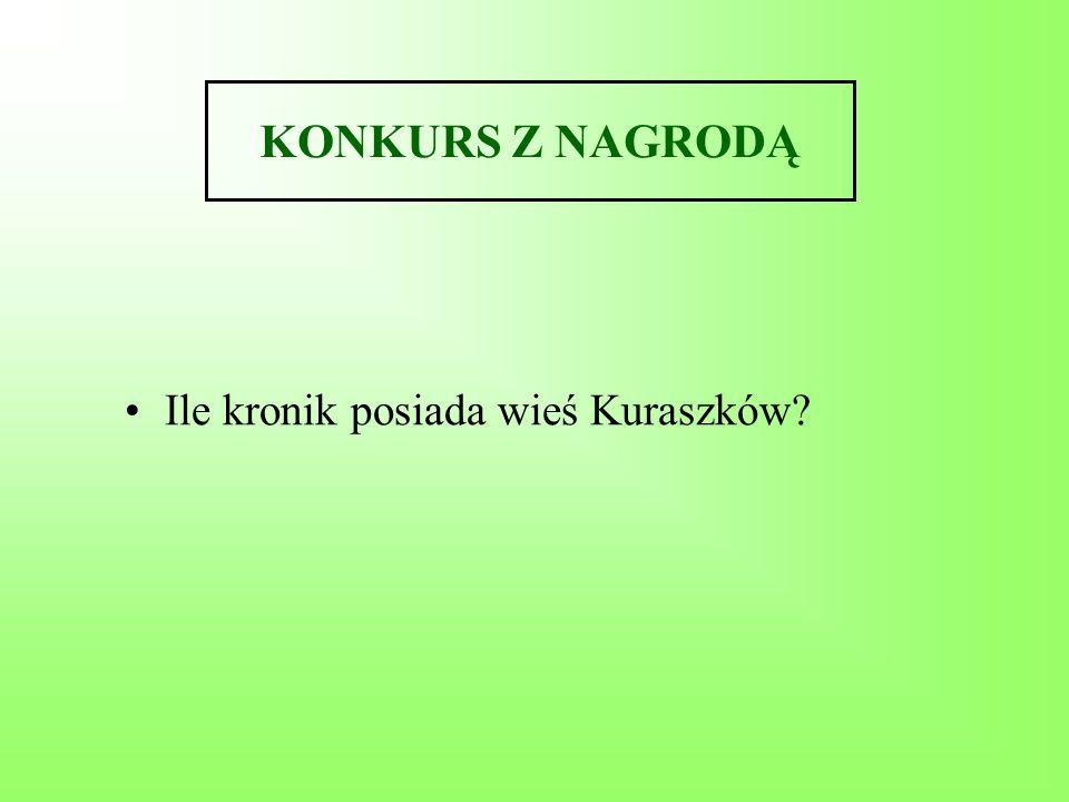 KONKURS Z NAGRODĄ Ile kronik posiada wieś Kuraszków