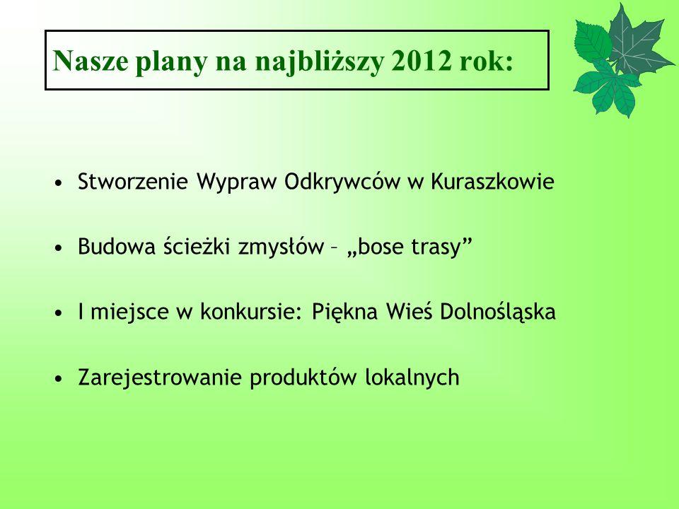 Nasze plany na najbliższy 2012 rok: