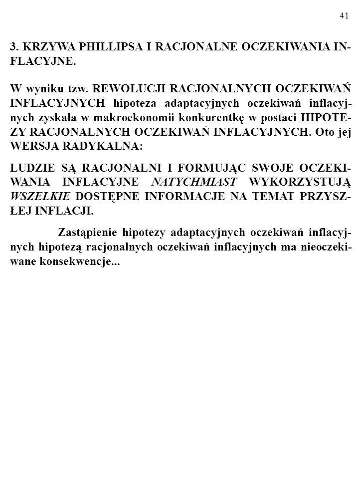 3. KRZYWA PHILLIPSA I RACJONALNE OCZEKIWANIA IN-FLACYJNE.