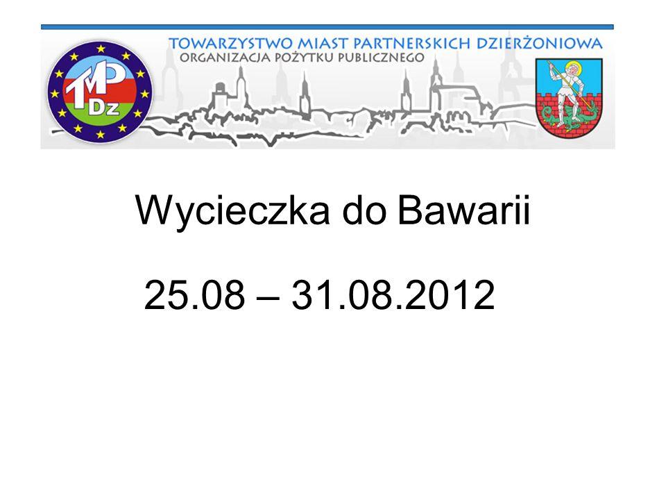Wycieczka do Bawarii 25.08 – 31.08.2012