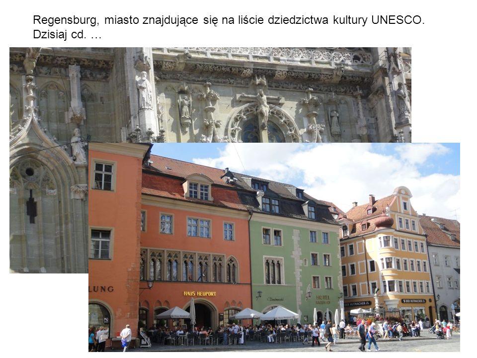 Regensburg, miasto znajdujące się na liście dziedzictwa kultury UNESCO.