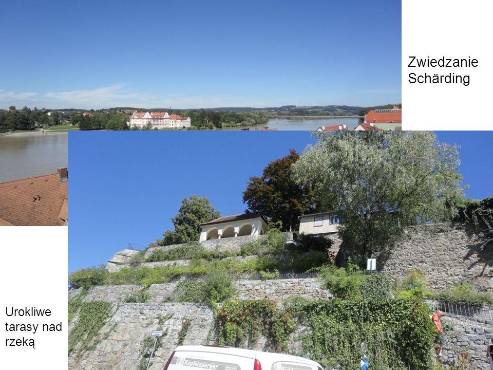 Zwiedzanie Schärding Urokliwe tarasy nad rzeką