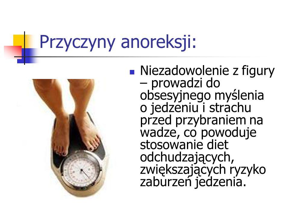 Przyczyny anoreksji: