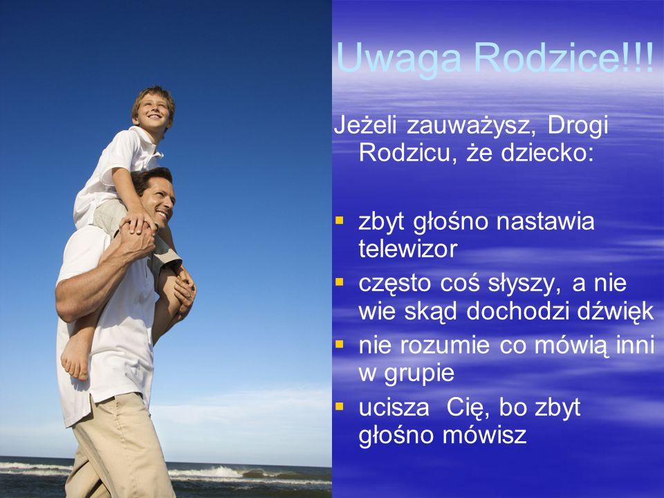 Uwaga Rodzice!!! Jeżeli zauważysz, Drogi Rodzicu, że dziecko: