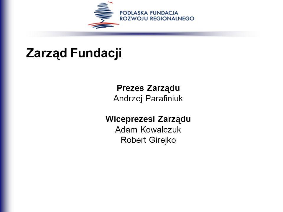 Zarząd Fundacji Prezes Zarządu Andrzej Parafiniuk Wiceprezesi Zarządu