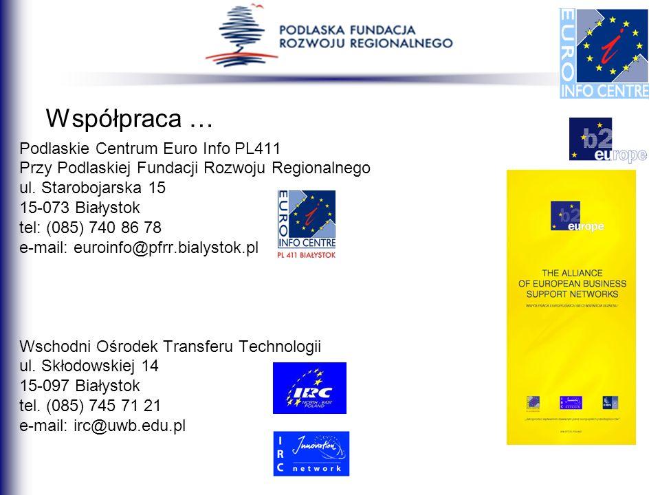 Współpraca … Podlaskie Centrum Euro Info PL411