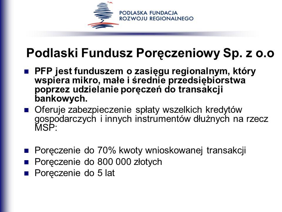 Podlaski Fundusz Poręczeniowy Sp. z o.o